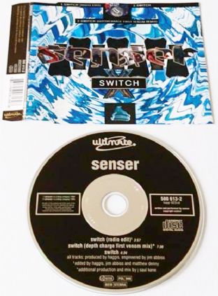 Senser ‎- Switch (CD Single) (G/VG)